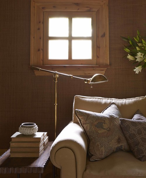 couch and lamp in redesigned home